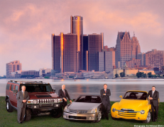 GM Executives with new Vehicles