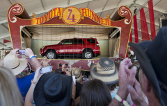 The redesigned 2014 Toyota 4Runner mid-size SUV is revealed at the Stagecoach Country Music Festival