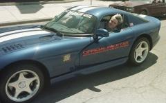 Jay Leno drives Dodge Viper