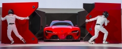 """Toyota reveals the FT-1 sports car concept at the North American International Auto Show in Detroit, Monday, January 13, 2014. FT-1 stands for """"Future Toyota,"""" and the number """"1"""" represents the ultimate. This is a final rehearsal picture. Photo: Joe Polimeni"""