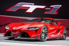 """Toyota reveals the FT-1 sports car concept at the North American International Auto Show in Detroit, Monday, January 13, 2014. FT-1 stands for """"Future Toyota,"""" and the number """"1"""" represents the ultimate. Photo: Joe Polimeni"""