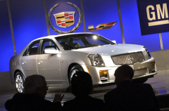 2004 Cadillac CTS-V is given a first look by members of the media