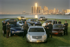 GM Concepts and Designers Detroit Skyline