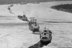 Ice bound freighters