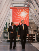 President George Bush visits Enery Conversion Devices