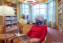 Retirement community Library during Covid