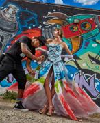 Shades and his Graffiti Dress