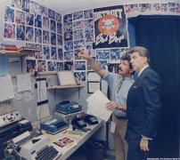 Chuck Daly Pistons Palace Darkroom
