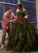 Matt fits the Christmas dress