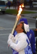 Joe Polimeni and the 2002 Olympic Torch Relay
