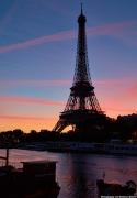Eiffel Tower Morning Sky