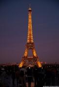 Eiffel Tower as sun sets