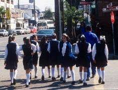 School Girls in Mexico