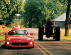 Vipers and Tractor share the road