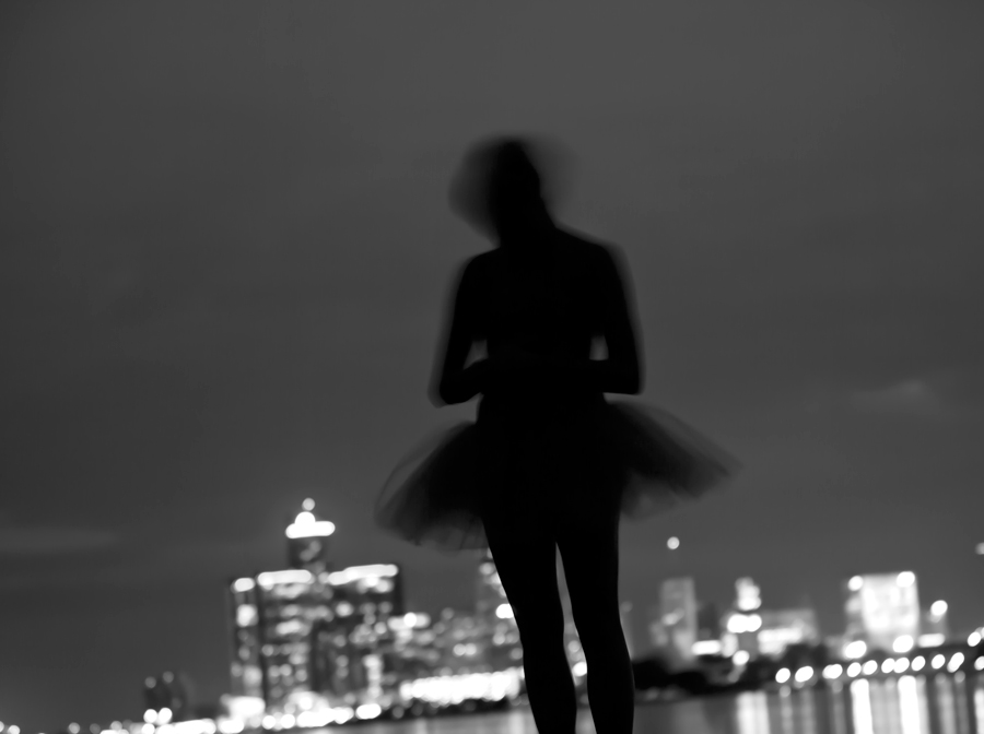 """Silhouetted Ballerina"""